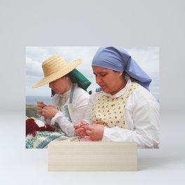 Women making handicraft Mini Art Print