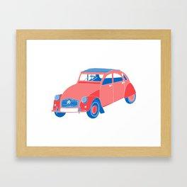 A French Car Framed Art Print