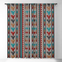 Stitched colorful aztec motif pattern Blackout Curtain