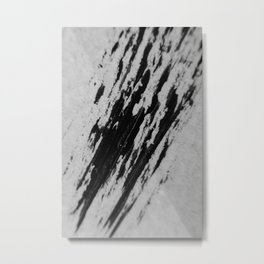 BLACK SNOW Metal Print