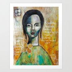 Love Girl Art Print
