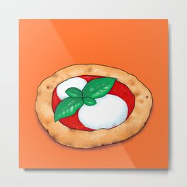 Small mozzarella pizza Metal Print