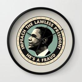 Obama Is A Fraud Wall Clock