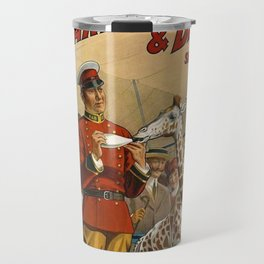 19th Century Barnum & Bailey Circus The only baby giraffe in America Vintage Poster Travel Mug