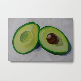 Happy avocado Metal Print