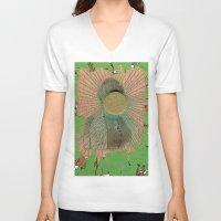 big bang V-neck T-shirts featuring Big Bang by Naomi Vona