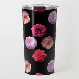 Pattern with camellias Travel Mug
