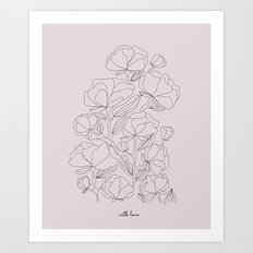 flowers, with love Art Print