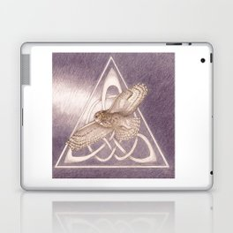 Nuit, the great-horned owl on white Laptop & iPad Skin