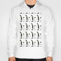 penguins Hoodies featuring Penguins by Ashley C. Kochiss