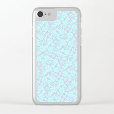 Cool Pastel Garden Clear iPhone Case