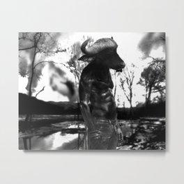 Lonely Minotaur Metal Print