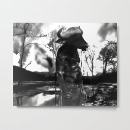 Lonely Minotaur Metal Print