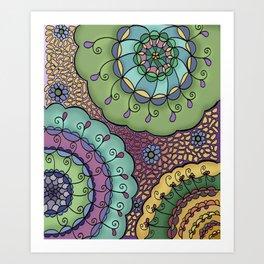 Flowerbursts Art Print