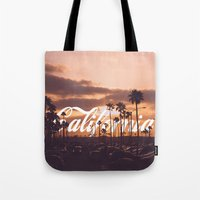 california Tote Bags featuring California by thecrazythewzrd