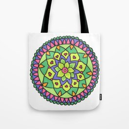 Bright colors mandala Tote Bag