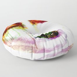 Melancholy in watercolor Floor Pillow