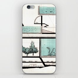 octopus architecture iPhone Skin
