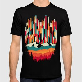 Sunset in Vertical Multicolor T-shirt
