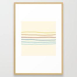 Abstract Retro Stripes #1 Framed Art Print