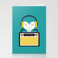 radio Stationery Cards featuring Radio Mode Love by Picomodi