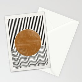 Abstract Modern Poster Stationery Cards