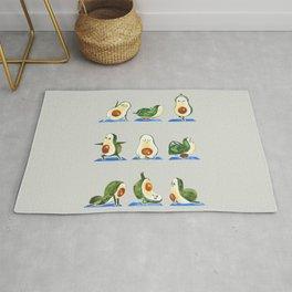 Avocado Yoga Watercolor Rug