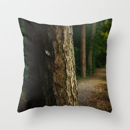 Tree in a forest Throw Pillow