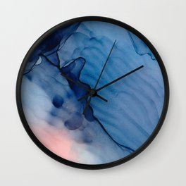 Infinite Fluid ink abstract watercolor Wall Clock