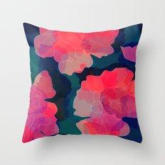 Blushing Flowers- Purple Throw Pillow