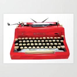 Geometric Vintage Typewriter Art Print