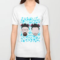jesse pinkman V-neck T-shirts featuring Walter White and Jesse Pinkman by Raquel Segal