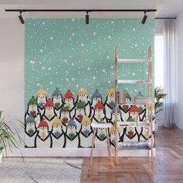 Christmas penguins Wall Mural