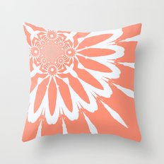 Peach Flower Throw Pillow