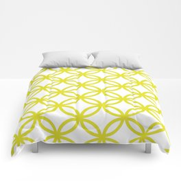 Interlocking Yellow Comforters