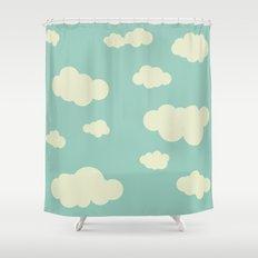 vintage clouds Shower Curtain