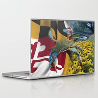 maryland Laptop & iPad Skins featuring Maryland Blue by O'Postrophy