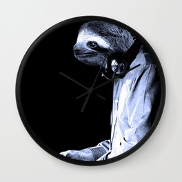 DJ Sloth Wall Clock