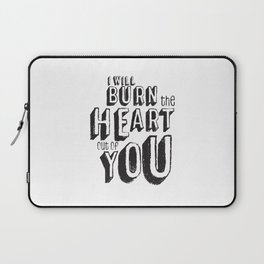 Moriarty Quote, I'll burn the heart out ouf you, Sherlock Decor Laptop Sleeve