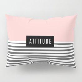 Design Pink Stripes Attitude Pillow Sham