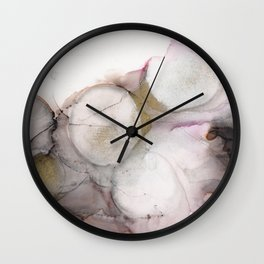 Pink Black Gold Flow 2 Wall Clock