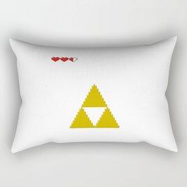 Triforce/Hearts Retro Pixel Rectangular Pillow