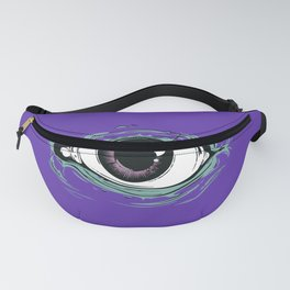 """I See You"" Purple Pattern Fanny Pack"