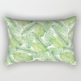 Tropical Branches Pattern 02 Rectangular Pillow