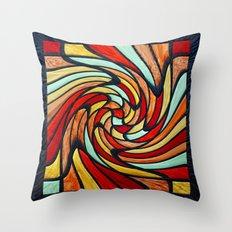 chromatic swirl Throw Pillow