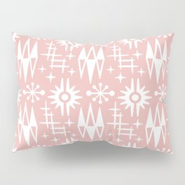 Mid Century Modern Atomic Space Age Pattern Dusty Rose Pillow Sham