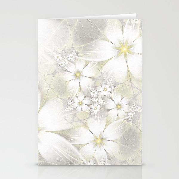 Immagini Fiori Bianchi.White Flower Fiori Bianchi Stationery Cards By Yleniapizzetti