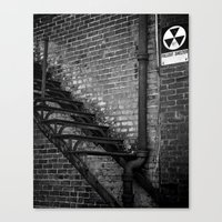 fallout Canvas Prints featuring Fallout by BrandonAddisArt