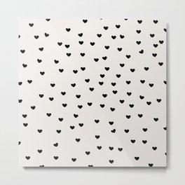 Lots of Little Hearts Brush Strokes Pattern Metal Print