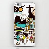 rio de janeiro iPhone & iPod Skins featuring RIO DE JANEIRO by Valter Brum